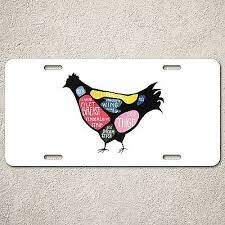 Lp0076 Chicken Meat Chart Auto License Plate Sign Rust Vintage Home Store Decor Ebay