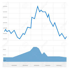 Stock Graph Vector Illustration Concept Of Trading Market Charts