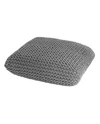 box floor pillows. Grey Knitted Cotton Pouffe Floor Cushion Square 70 X 20 Cm Box Pillows R