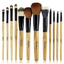 zodaca 12 piece professional cosmetic makeup brushes set with black brown leopard pouch bag blush onesque