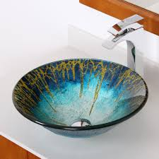 Glass Sink Bathroom 1309 Elite Modern Design Tempered Glass Bathroom Vessel Sink