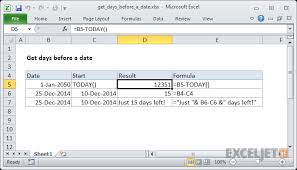 Cycle Count Excel Template Excel Formula Get Days Before A Date Exceljet