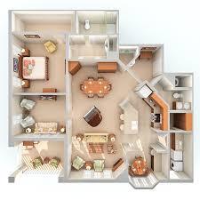 Asheville NC Retirement Apartments CreeksideWisteria  One Bedroom   Den sq  ft  Download Floor Plan