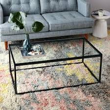 metal and glass coffee table perfect glasetal coffee tables with box frame coffee table