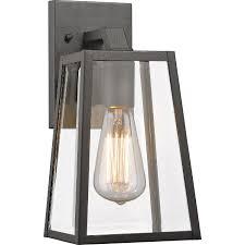 chloe lighting leodegrance transitional 1 light black outdoor wall sconce 11 h