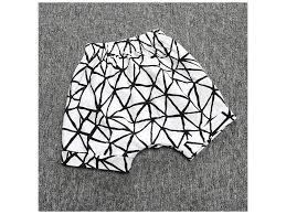 Chlapecké šortky S Proužky černo Bílé