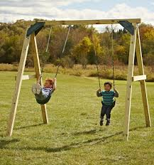 basic wooden swing set simple awesome one hour a frame with easy use plans home design