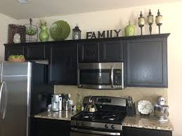home decor decorating above kitchen cabinets
