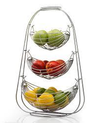 Amazon.com | Sagler 3 Tier Fruit basket - Stainless steel fruit bowl -  large fruit bowl - useful for fruit storage basket: Serving Bowls & Tureens