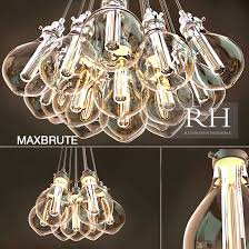 teardrop glass filament chandelier designs