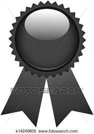 Clipart Of Black Ribbon Award K14240605 Search Clip Art