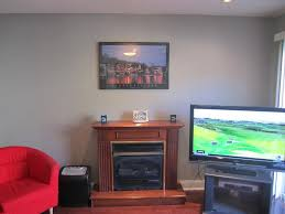 mounting flat screen tv above electric fireplace