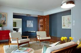 Mid Century Modern Living Room Ideas Affordable Mid Century Modern Interior  Creative Stylish Ideas Blue Color ...