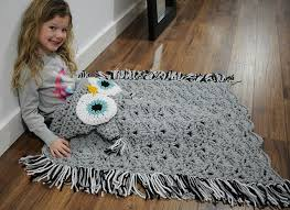 Crochet Owl Blanket Pattern Free Amazing Crochet Owl Hooded Blanket Video Tutorial Included