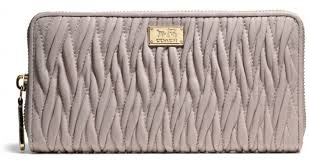 Lyst - Coach Madison Accordion Zip Wallet in Gathered Twist Leather in Gray