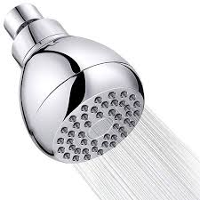 high pressure shower head 3 inch anti clog anti leak fixed chrome shower heads removable water restrictor adjustable swivel ball joint