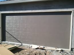 flush panel garage doorAmarr Stratford 3000 flush panel garage door in terratone
