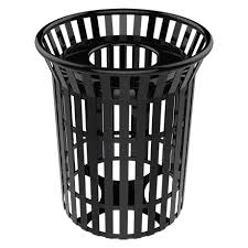 32 gallon lexington skyline trash receptacle with flared top