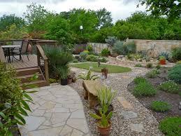 Lawn & Garden:Diy Backyard Rock River Garden With Black And Cream Stone  Color Idea
