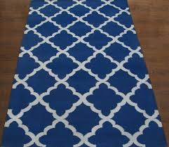 rugsville trellis durries blue ivory rug 13699