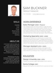 Resume Templet Fascinating Two Tones Resume Template Best Free Resume Templates