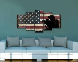 rustic american flag with soldiers 3 army rangers military art patriotic wall art navy seals army wall decor us marines canvas on patriotic canvas wall art with military canvas art etsy