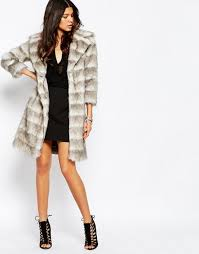 river island faux fur coat grey women coats river island shoes heels here