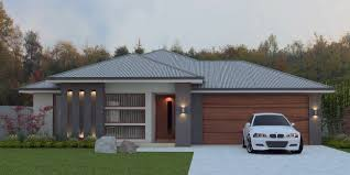 4 Bed House Plans Front Modern