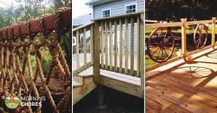 diy deck railing ideas and designs that are sure to inspire you wood porch railing designs