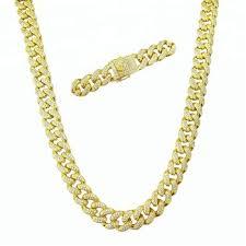 whole iced out diamond cuban link chain hip hop chain