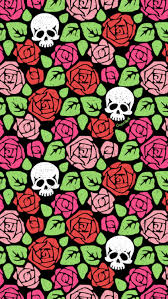 floral pattern wallpaper tumblr.  Tumblr U201cRose U0026 Skull Gardenu201d Pattern For You Feel Free To Save As Your Phone  Wallpaper For Personal Use Only Pro Tip For Background Instead Of Lock  To Floral Pattern Wallpaper Tumblr