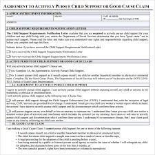 child support agreement template pdf child support agreement letter