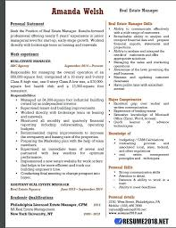 Quality Manager Resume Objective Examples Template For Real Estate
