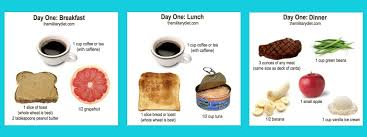 Day One Military Diet Chart Healthy Figures