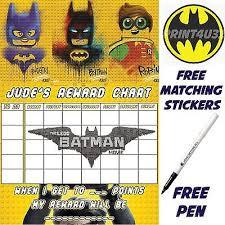 Lego Batman Reward Chart Lego Friends Reusable Personalised Reward Chart Stickers