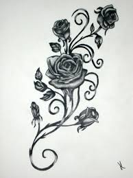 rose vine tattoo designs. Delighful Rose Roses With Vines Drawing  Rose Vine Drawing Black Rose Vine Tattoos  Possible Tattoo Template In Tattoo Designs Pinterest