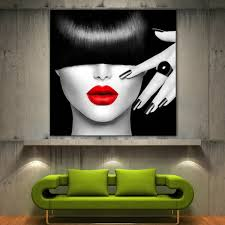 beautiful modern black and white wall art painting fullxfull red lips home decor fine contemporary flower
