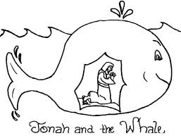 Small Picture Story of Jonah and the Whale Coloring Page