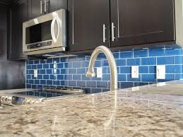 Blue Glass Tiles Kitchen White Kitchen With Blue Glass Tile Backsplash Yes Yes Go