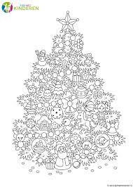 Kleurplaten Printen Kerstboom