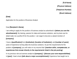 business yst cover letter with