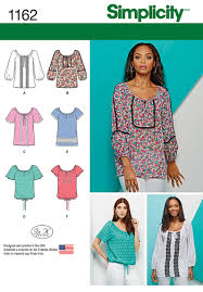 Simplicity Blouse Patterns Fascinating Simplicity 48 Misses' Blouse With Sleeve Length And Trim Variations