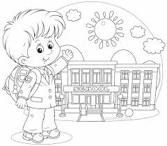 Small Picture Image Back School Coloring Page To School Coloring Pages Free