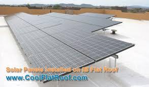 image of unisolar thin pv laminates installed on a modified bitumen flat roof