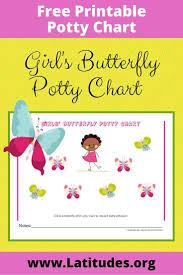 Free Potty Training Chart Girls Butterfly Acn Latitudes