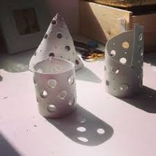 My attempts at clay candle holders