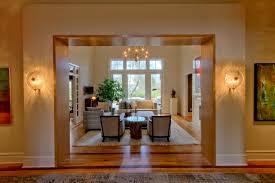 wall sconces for living room. Dual \u0026\u0027Costa Coco Wall Sconces Flanking Opening To Living Room Transitional- Living- For A