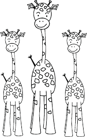 Giraffe Coloring Pages Easy Coloring Pages For Adults Giraffe