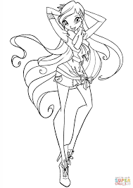 Small Picture Winx Stella coloring page Free Printable Coloring Pages