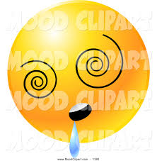 Mood Clip Art Of A Yellow Emoticon Face With Spinning Vortex Eyes Jhlgzg  Clipart